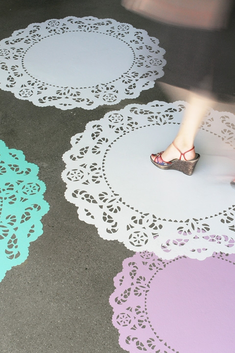 doily wall decals