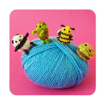 miniature knitted animals