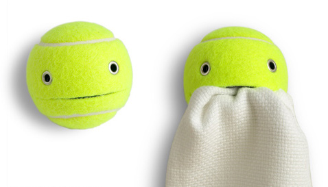mr. wilson tennis ball towel holder