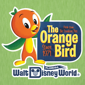 disney orange bird vintage