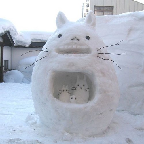totoro snowman