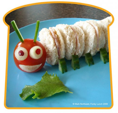 caterpillar bento lunch