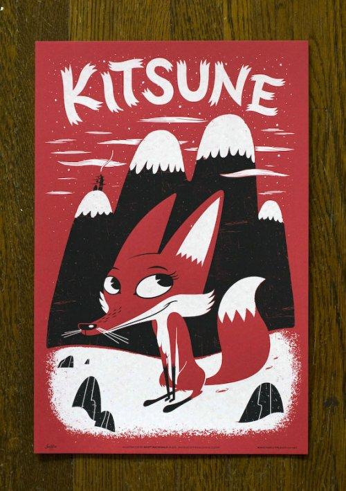 japanimal posters Kitsune Fox