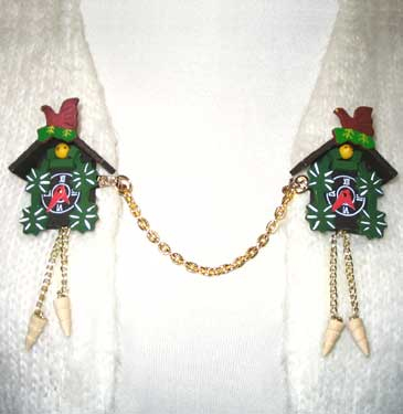 cuckoo clock sweater clips
