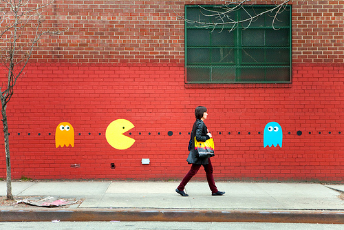 pac man street art