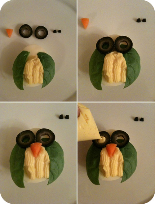 owl deviled eggs recipe