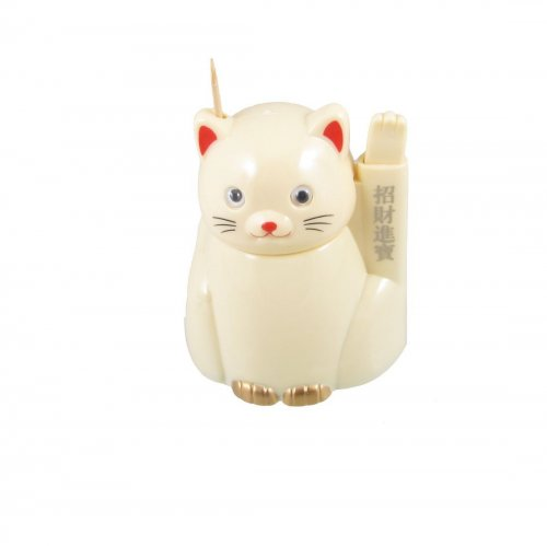 cat toothpick holder dispenser