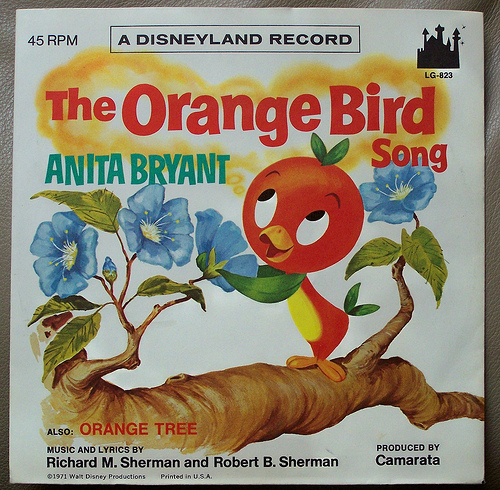 disney orange bird record