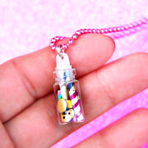 miniature candy necklace