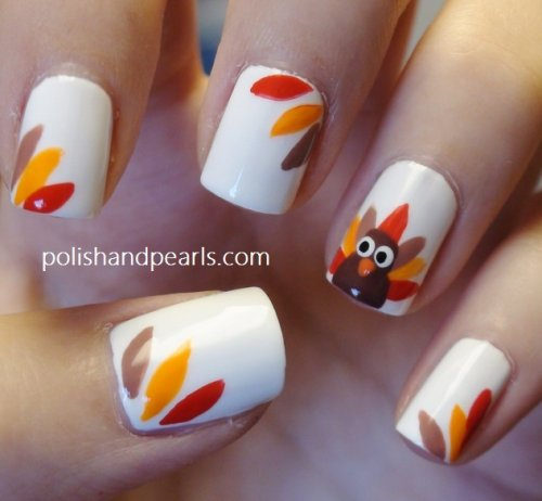 thanksgiving turkey nails