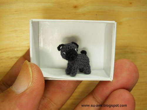 miniature dollhouse pug