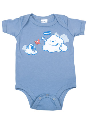 cloud airplane onesie