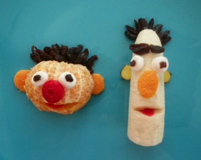 ernie and bert sesame street fruit bento