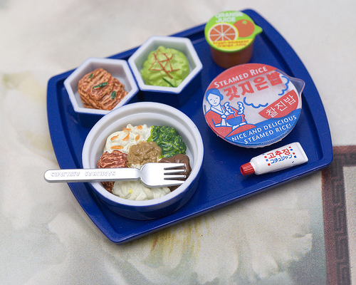 Korean Airline Meal Tray