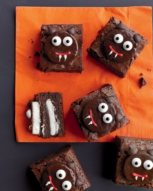 halloween brownies black cat