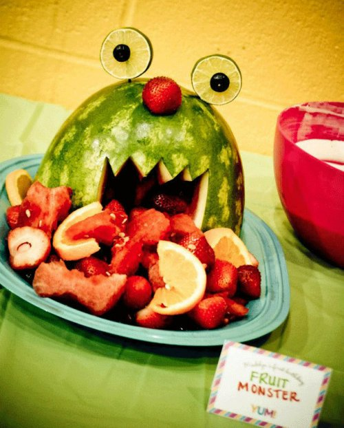 watermelon fruit salad monster