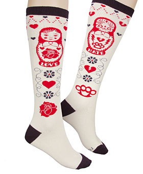 russian nesting doll socks