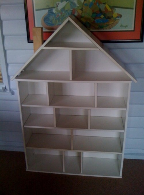 ikea billy dollhouse shelf