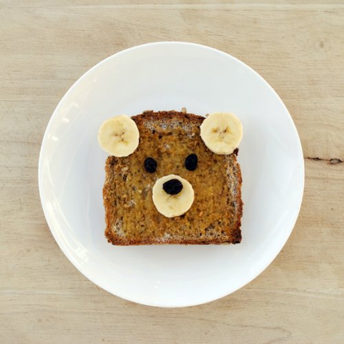 bear banana toast
