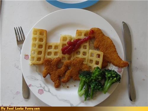 dino chicken nuggets