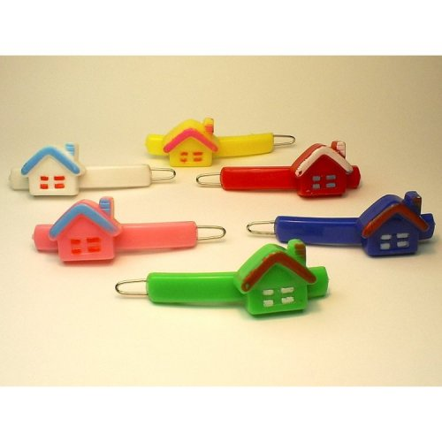 vintage plastic house barrettes