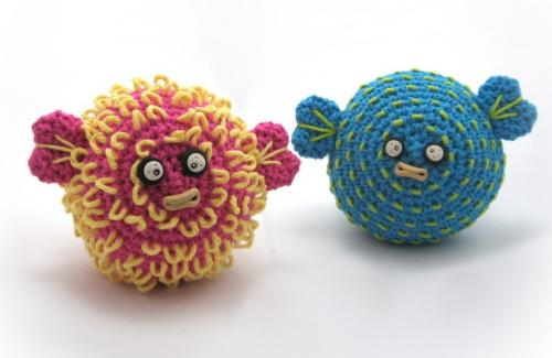 knit pufferfish