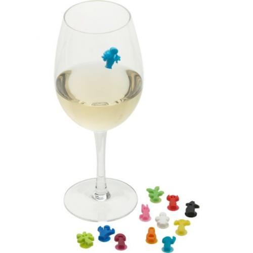 party people wine glass markers