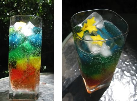 double rainbow cocktail