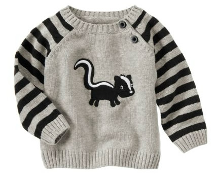 skunk sweater