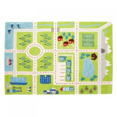 birds eye map kids area rug