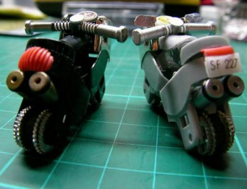 motorcycles made from lighters