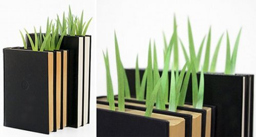 green marker grass page markers