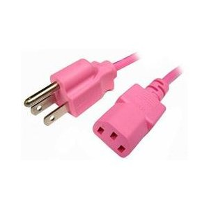 pink power cord
