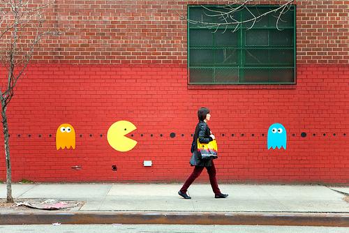 pac man street art