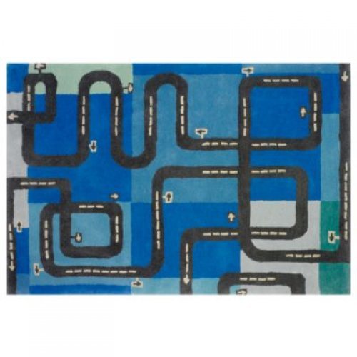 driving map car area rug