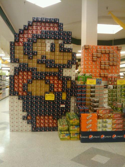 super mario soda display