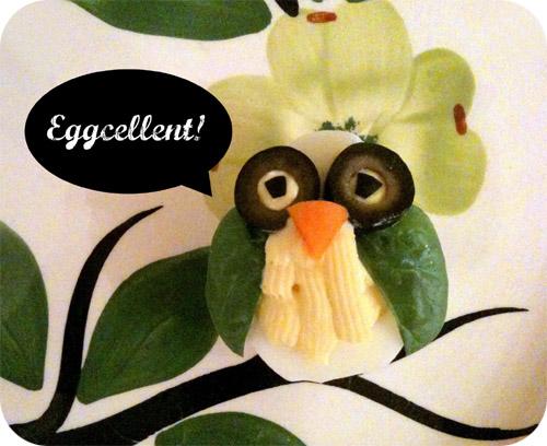 owl deviled eggs