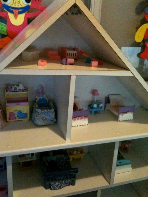 ikea billy dollhouse shelf