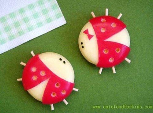 babybel cheese ladybugs