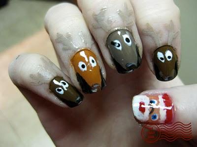 christmas nail painting