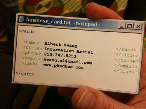 notepad business card