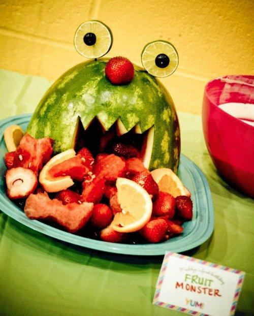 watermelon fruit salad monster