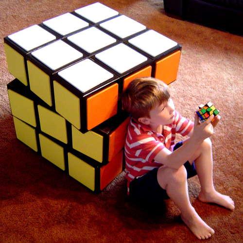 rubiks cube dresser