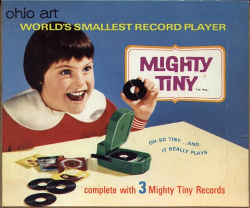vintage mighty tiny record player